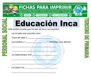Educacion Inca para Tercero de Primaria
