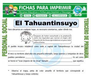El Tahuantinsuyo para Tercero de Primaria