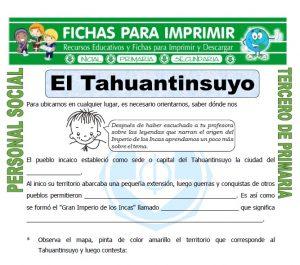 Ficha de El Tahuantinsuyo para Tercero de Primaria