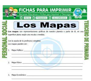 Ficha de Elementos de un Mapa para Tercero de Primaria