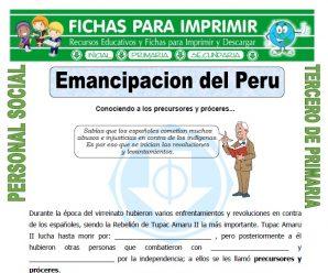 Emancipacion del Peru para Tercero de Primaria