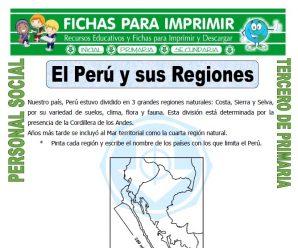 Mapa del Peru y sus Regiones para Tercero de Primaria