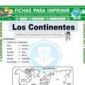 Nombre de los Continentes para Tercero de Primaria