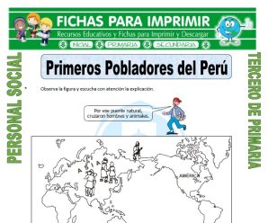 Primeros Pobladores del Peru para Tercero de Primaria