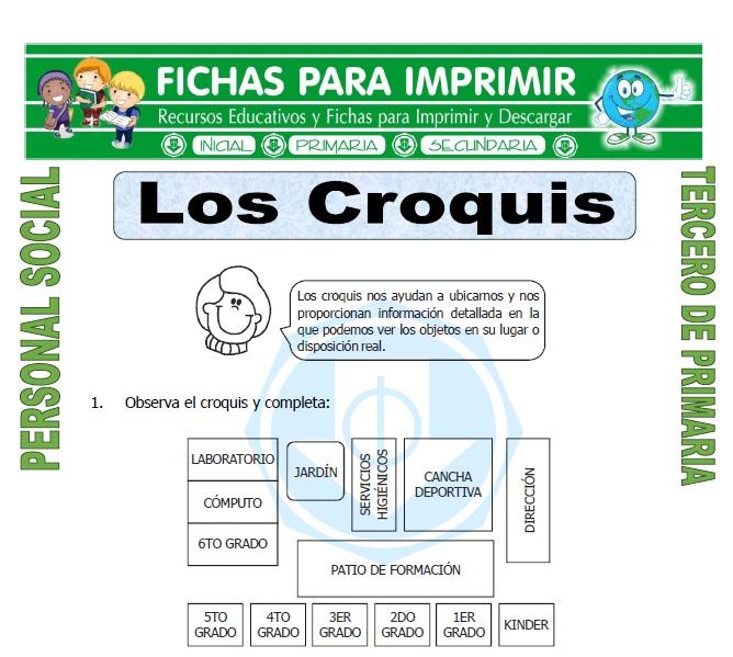 Ficha de Que es un Croquis para Tercero de Primaria
