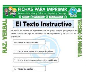 El Texto Instructivo para Tercero de Primaria