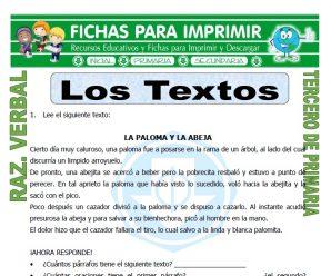 Los Textos para Tercero de Primaria