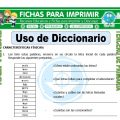 Uso de Diccionario para Tercero de Primaria