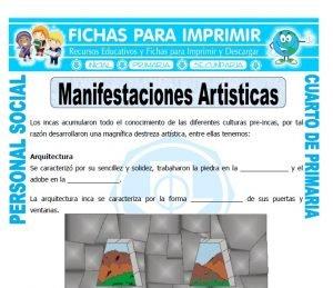 ficha de Arte Inca para Cuarto de Primaria