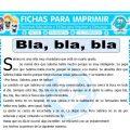Bla, bla, bla para Cuarto de Primaria
