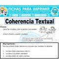 Coherencia Textualpara Cuarto de Primaria