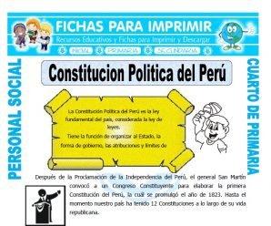 Constitucion Politica del Perupara Cuarto de Primaria