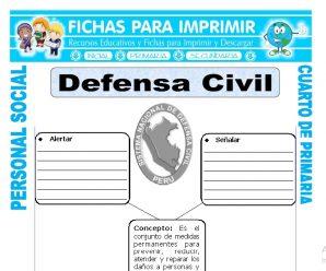 Defensa Civilpara Cuarto de Primaria