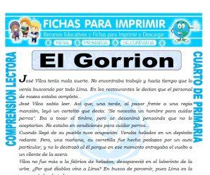 El Gorrion para Cuarto de Primaria