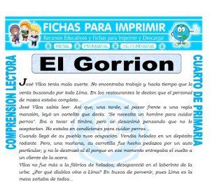 Ficha de El Gorrion para Cuarto de Primaria