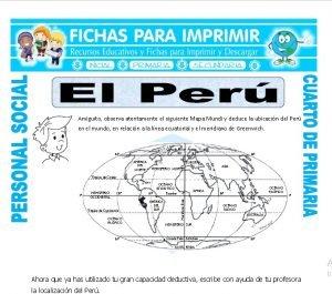 ficha de El Peru para Cuarto de Primaria