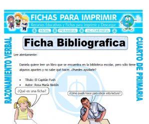 Ficha Bibliograficapara Cuarto de Primaria