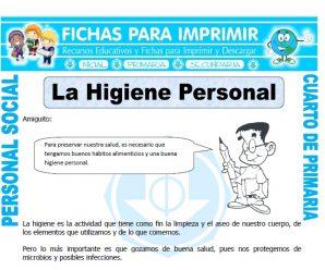 Higiene Personalpara Cuarto de Primaria