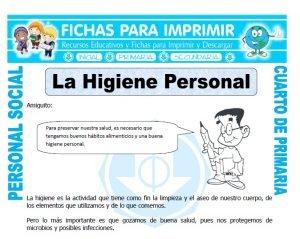 ficha de Higiene Personal para Cuarto de Primaria