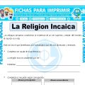 Inca Religionpara Cuarto de Primaria