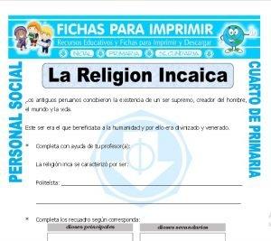 ficha de Inca Religion para Cuarto de Primaria