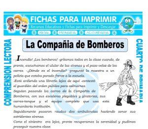 Ficha de La Compañía de Bomberos para Cuarto de Primaria
