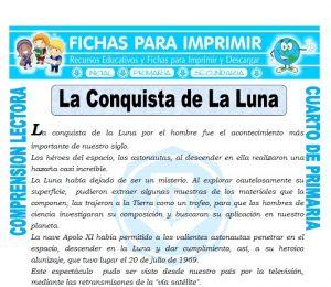 Ficha de La Conquista de la Luna para Cuarto de Primaria