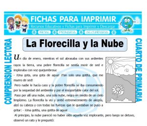 Ficha de La Florecilla y la Nube para Cuarto de Primaria