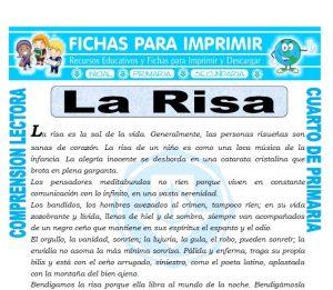 Ficha de La Risa para Cuarto de Primaria