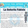 La Señorita Fabiola para Cuarto de Primaria