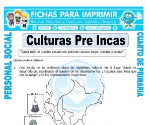 Las Culturas del Perupara Cuarto de Primaria
