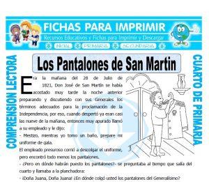 Ficha de Los Pantalones de San Martin para Cuarto de Primaria
