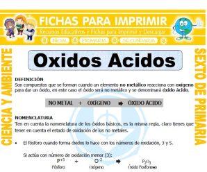 Oxidos Acidos para Sexto de Primaria