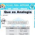 Que es Analogiapara Cuarto de Primaria