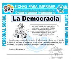Que es Democraciapara Cuarto de Primaria