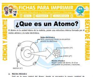Que es un Atomo para Sexto de Primaria