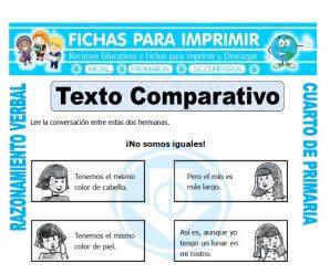 Texto Comparativopara Cuarto de Primaria