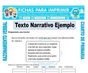 Texto Narrativo Ejemplopara Cuarto de Primaria