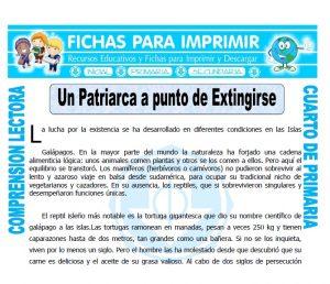 Ficha de Un Patriarca a Punto de Extingirse para Cuarto de Primaria