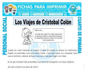 Viajes de Cristobal Colonpara Cuarto de Primaria