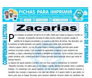 Ficha de Zacarias para Cuarto de Primaria