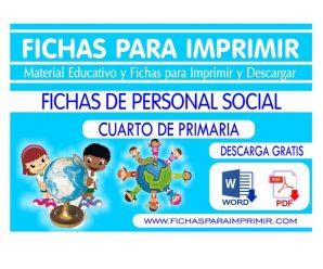 Fichas de Personal Social para Cuarto de Primaria