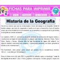 Historia de la Geografia para Quinto de Primaria