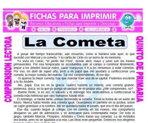 La Cometa para Quinto de Primaria