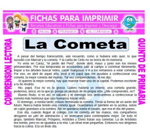 Ficha de La Cometa para Quinto de Primaria