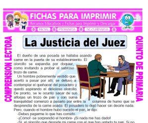 La Justicia del Juez para Quinto de Primaria