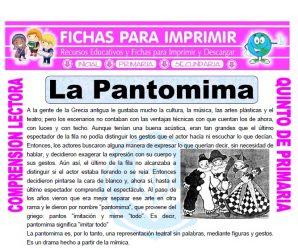 La Pantomima para Quinto de Primaria