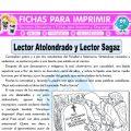 Lector Atolondrado y Lector Sagaz Quinto Primaria