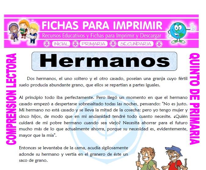 Lecturas Para Niños De Quinto Grado De Primaria Para Imprimir Varios Niños