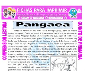 Pangaea para Quinto de Primaria